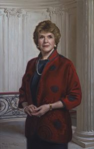 Executive Oil Portrait of Anne Russell, President, The Lotus Club