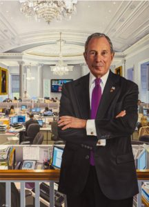 Executive Oil Portrait of Michael Bloomberg, City of New York