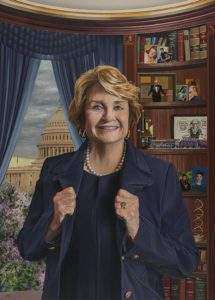 Oil Portrait of Congresswoman Louise Slaughter