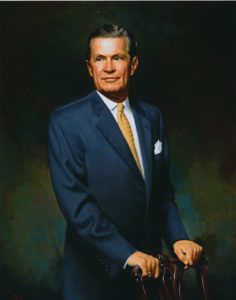 Executive Oil Portrait of Benjamin Jenkins, Queens College, Charlotte, NC
