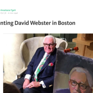 Anastasia Egeli painting David Webster in Boston
