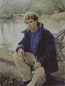 Teen Boy Oil Portrait