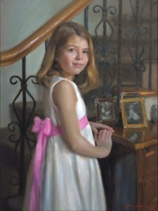 Girls Oil Portrait