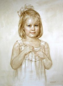 Girls Pastel Portrait