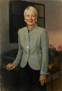 Executive Oil Portrait of Pamela Flaherty, former CEO of Citi Foundation, Board Chair/ Johns Hopkins University