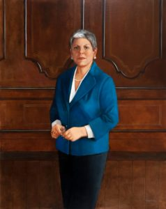 Janet Napo Government Oil Portrait