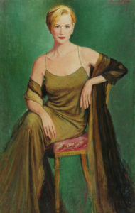 J. Daniel Portraits Oil Woman